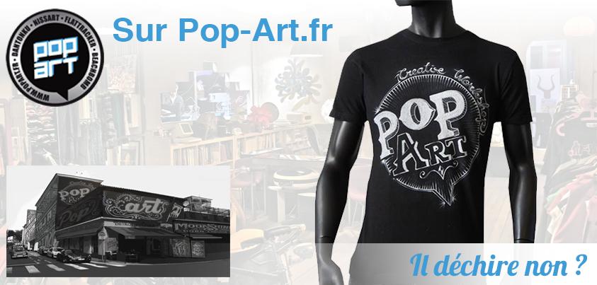 Tee Shirt de la collection Pop Art