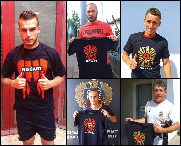 Alexy bosetti et ses co-équipiers portent tous la marque Nissart