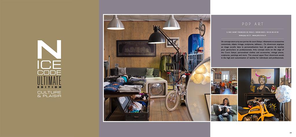 Nice Code 2015 Concept Store Ultimate Edtion 2015 Cote d'azur Culture & plaisir shworoom nice cannes monaco gold silver argent dorée