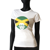 Tee-shirt col rond femme  - Afro Jamaica