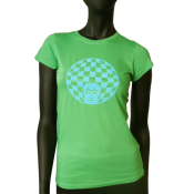 Tee-shirt col rond femme  - Afro Damier