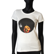 Tee-shirt Washed col rond femme  - Afro Vinyl