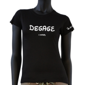 Tee-shirt Joe la Mouk - Dégage connard
