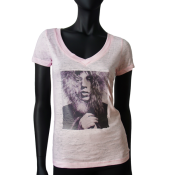 T-shirt devore Rose pale