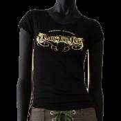 Tee-shirt noir col V dantonku fucking machine