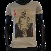 T-shirt col rond sable garibaldi