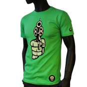 T-shirt homme, col rond.