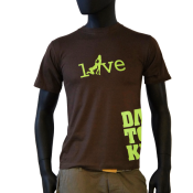 tee-shirt marron love Dantonku homme