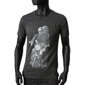 T-shirt Scooped Neck gris