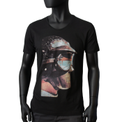 T-shirt Scooped Neck noir