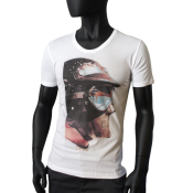 T-shirt Scooped Neck blanc