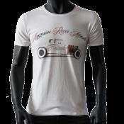 T-shirt col rond geris clair