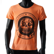 T-shirt col rond orange