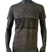 T-shirt Washed Gris